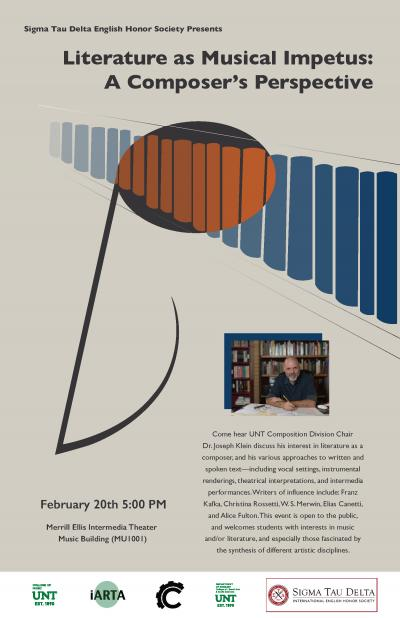 Event Poster: Literature as Musical Impetus: A Composer's Perspective